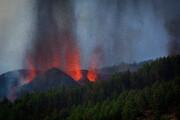 تصاویری از آتشفشانی که قناری را سوزاند | مسئولان اسپانیا دستور تخلیه فوری صادر کردند