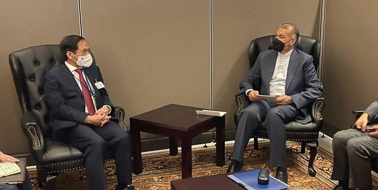وزیر امور خارجه در دیدار همتای ویتنامی