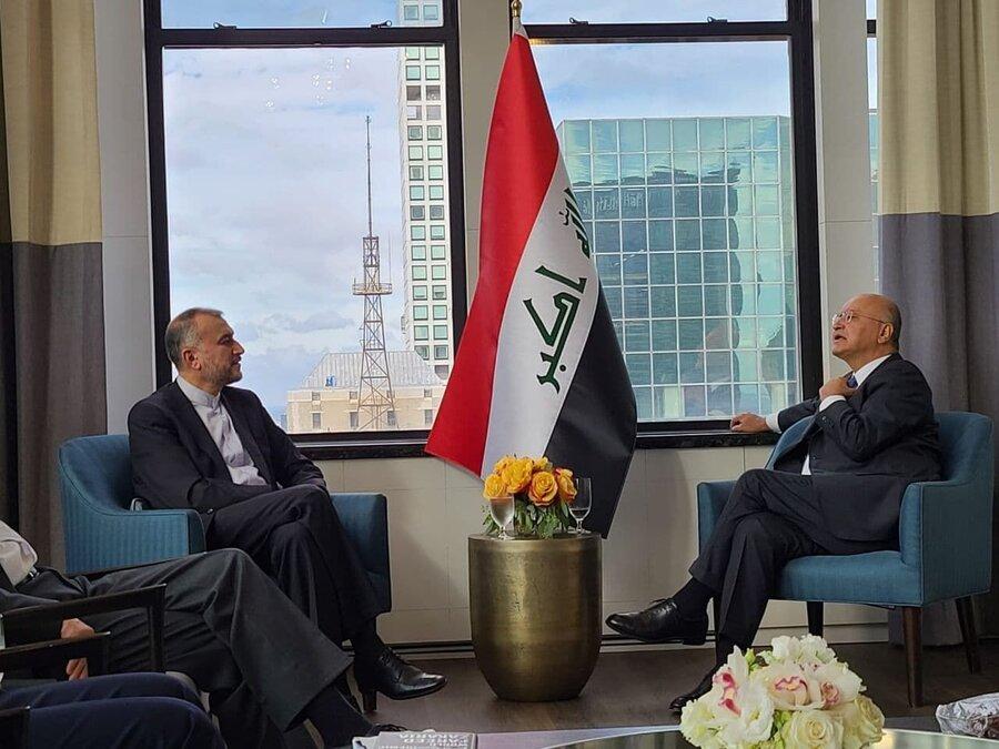 دیدار امیرعبداللیان با رئیس جمهور عراق