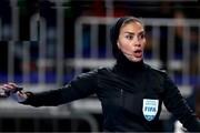 چک - اسپانیا با حضور بانوی ایرانی در تیم داوری