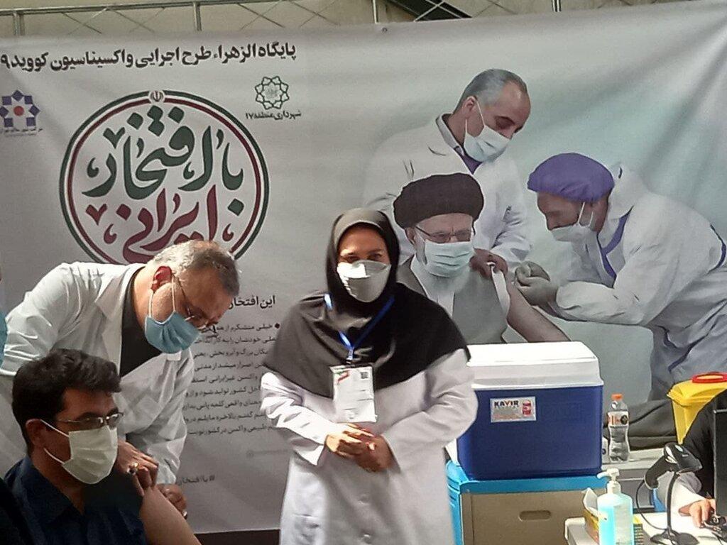 تزریق واکسن به مردم توسط شهردار تهران