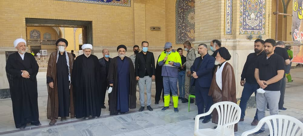 نیروهای شهرداری در نجف