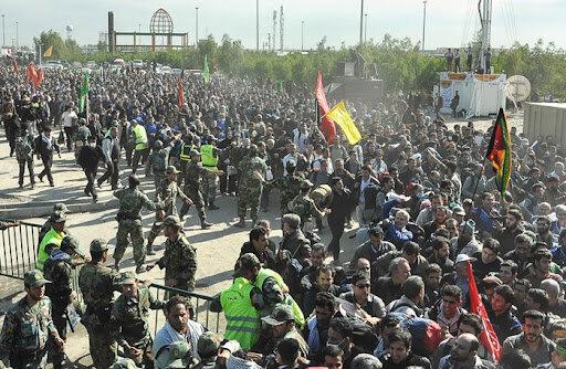 پیاده روی اربعین - ازدحام پشت مرز