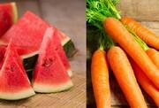 افزایش ۳ برابری قیمت هویج و هندوانه در یک سال