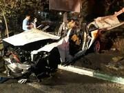 تصاویر |مرگ سرنشینان BMW در میان شعلههای آتش در بزرگراه مدرس