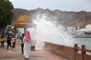 تصاویر | طوفان شاهین به عمان رسید