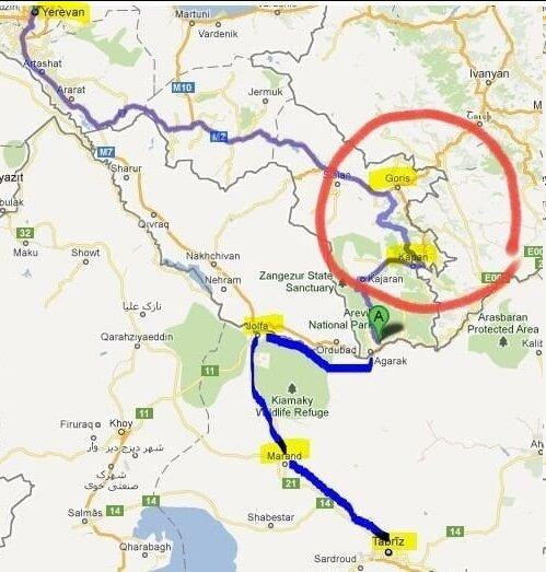 ایران، آذربایجان را دور می زند؟   مشارکت ایران برای بازسازی جاده تاتو در ارمنستان