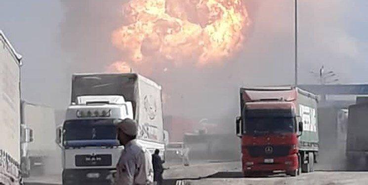 ویدئو  |علت آتش سوزی در گمرک دوغارون در مرز افغانستان
