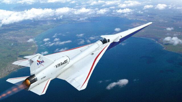 هواپیمای مافوق صوت ساکت و بدون پنجره جلو