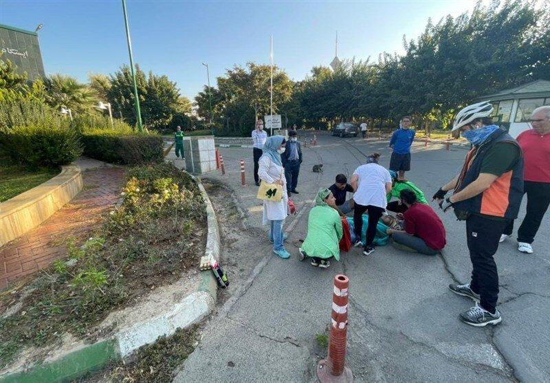 تصادف یک دونده در پارک پردیسان