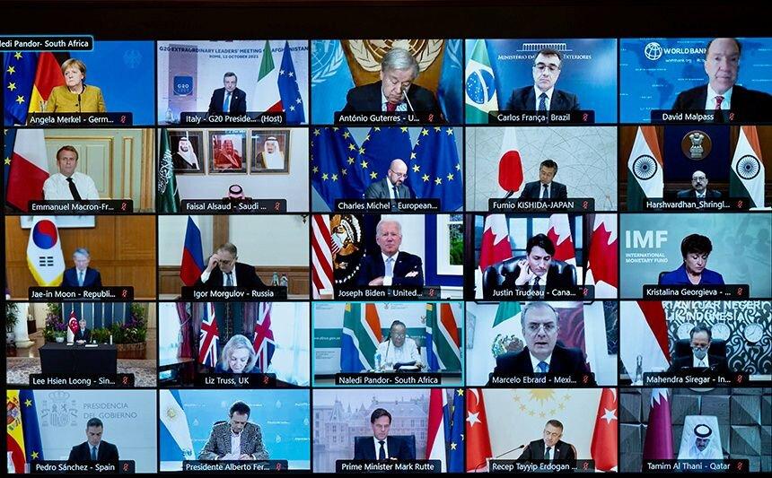 روسیه و چین غایبان نشست ویژه گروه ۲۰ برای کمک به افغانستان