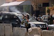 ویدئو | تیراندازی در مراسم تشییع قربانیان حادثه بیروت