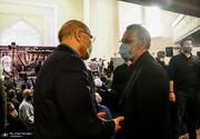عکس | ملاقات لاریجانی و قالیباف در مراسم بزرگداشت علامه حسن زاده آملی