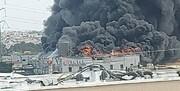 ویدئو | آتشسوزی بزرگ در یک مجتمع تجاری در اسرائیل