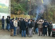 اعتصاب کارگران سد شفارود تالش برای حقوق