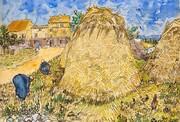 رونمایی از نقاشی آبرنگ ونسان ونگوگ پس از ۱۱۶ سال | تابلو ۱۳۳ ساله پشتههای گندم در کریستیز نیویورک حراج میشود