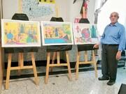 هنرنمایی شاطر خوشذوق روی بوم نقاشی