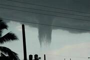 تصاویری از گردبادی نادر در کوبا