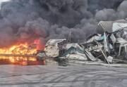 ویدئو و تصاویر |آتشسوزی گسترده در کارخانه طبیعت