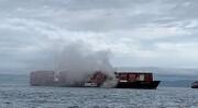 یک کشتی اسرائیلی در نزدیکی ساحل کانادا آتش گرفت