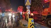 آتشسوزی گسترده در خیابان جمهوری تهران | یک آتشنشان مصدوم شد