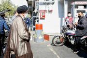 رئیس جمهور به یکی از پمپ بنزین های سطح شهر رفت